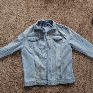 Express pearl denim jacket M/L